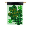 St. Patrick's Day Shamrocks Large House Flag