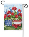 "Full Description: BreezeArt® Premium Flags are made of our exclusive SolarSilk® 600 denier polyester for greater durability, yet they have a softer, silkier feel for better drape and movement. Fade and mildew resistant. 12.5"" x 18"". Flag stand sold separately."
