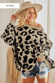 LEOPARD SWEATER TOP.  OATMEAL IN COLOR.