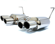 Agency Power Catback Exhaust System Polished Quad Tips Subaru STi WRX Sedan 2011-15