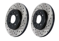 STOPTECH DRILLED/SLOTTED SPORT ROTORS (FRONT L&R) 2017+ HONDA CIVIC SI