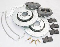 "HONDA CIVIC FASTBRAKES STREET/ADVANCED TRACK 12.6"" BRAKE KIT WILWOOD 4 POT CALIPERS W/ SLOTTED ROTORS"