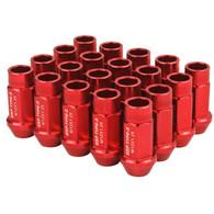 Godspeed Type 3 50mm Lug Nuts 20 pcs. Set M12 X 1.5 Red