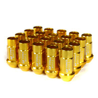 Godspeed Type 3 50mm Lug Nuts 20 pcs. Set M12 X 1.5 Gold