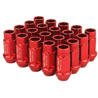 Godspeed Type 3 50mm Lug Nuts 20 pcs. Set M12 X 1.25 Red