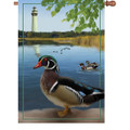 Wood Ducks : Illuminated Flags