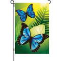 Blue Morpho Butterflies: Garden Flag