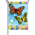 Welcome Butterflies: Garden Flag