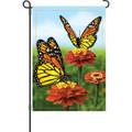 Elegant Monarchs: Garden Flag