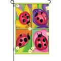 Four Ladybug: Garden Flag