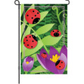 Ladybug and Fern: Garden Flag
