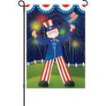 Uncle Sam's Big Day: Garden Flag