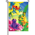 Colorful Frogs: Garden Flag