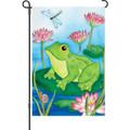 Lotus Frog: Garden Flag