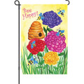 Bee Happy: Garden Flag
