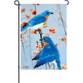 Bluebirds in the Spring: Garden Flag
