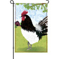 Barnyard Rooster: Garden Flag