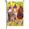Fall Bird Gathering: Garden Flag