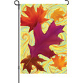 Swirling Leaves: Garden Flag