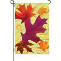 Swirling Leaves: Garden Flag