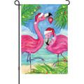 Festive Flamingos: Garden Flag