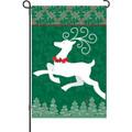 Joyful Reindeer: Garden Flag