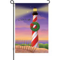 Candy Cane Lighthouse: Garden Flag