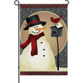 Nature Snowman: Garden Flag