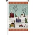 Snowman Village: Garden Flag