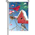 Winter Birdhouse: Garden Flag