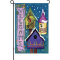 Welcome Winter Birdhouses: Garden Flag