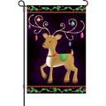 Reindeer of Ornaments: Garden Flag