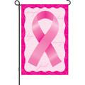 Pink Ribbon: Garden Flag