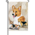 Welsh Corgis: Garden Flag
