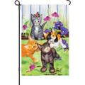 Kitten Flower Bed: Garden Flag