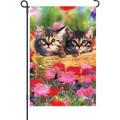 Cuddly Felines: Garden Flag