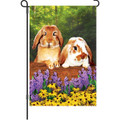 Funny Bunnies: Garden Flag