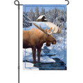 Winter Moose: Garden Flag