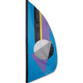 Oceanic Prizm  3.5 ft Feather Banner