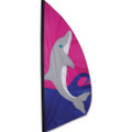 Dolphin  3.5 ft Feather Banner