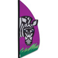Zebra   3.5 ft Feather Banner