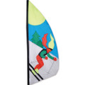 Skier   3.5 ft Feather Banner