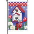 Patriotic Birdhouse: Garden Flag
