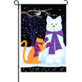 Snow Cat  :  Garden Flag