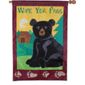 Wipe Yer Paws Bear) : Applique
