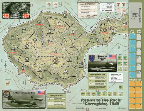 Return to the Rock: Corregidor, 1945 replacement map