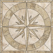 Captains Compass Rose Porcelain Mosaic Tile Medallion