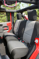 Seat Cover Rear 4Door Black Gr