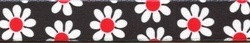 Black Daisies Red Polka Dots Lead