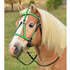 MEDIEVAL BAROQUE WAR or PARADE BRIDLE made from BETA BIOTHANE (ANY 2 COLOR COMBO)